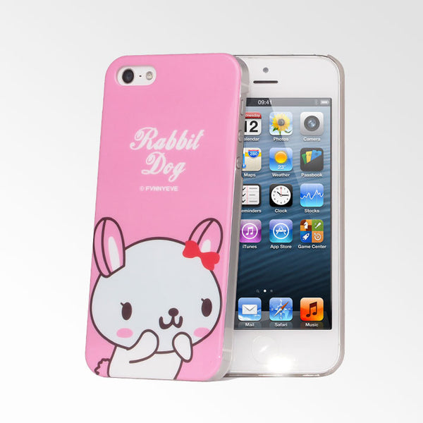 Cute Pets Pink Rabbit Dog iPhone 5S/5 Case