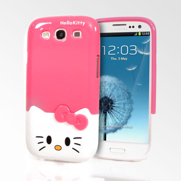 Hello Kitty Face Slider Samsung Galaxy S3 Cases