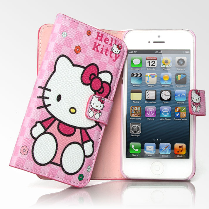 lowest price 7fb46 16d04 Hello Kitty Pink Checker Folio iPhone 5S/5 Case