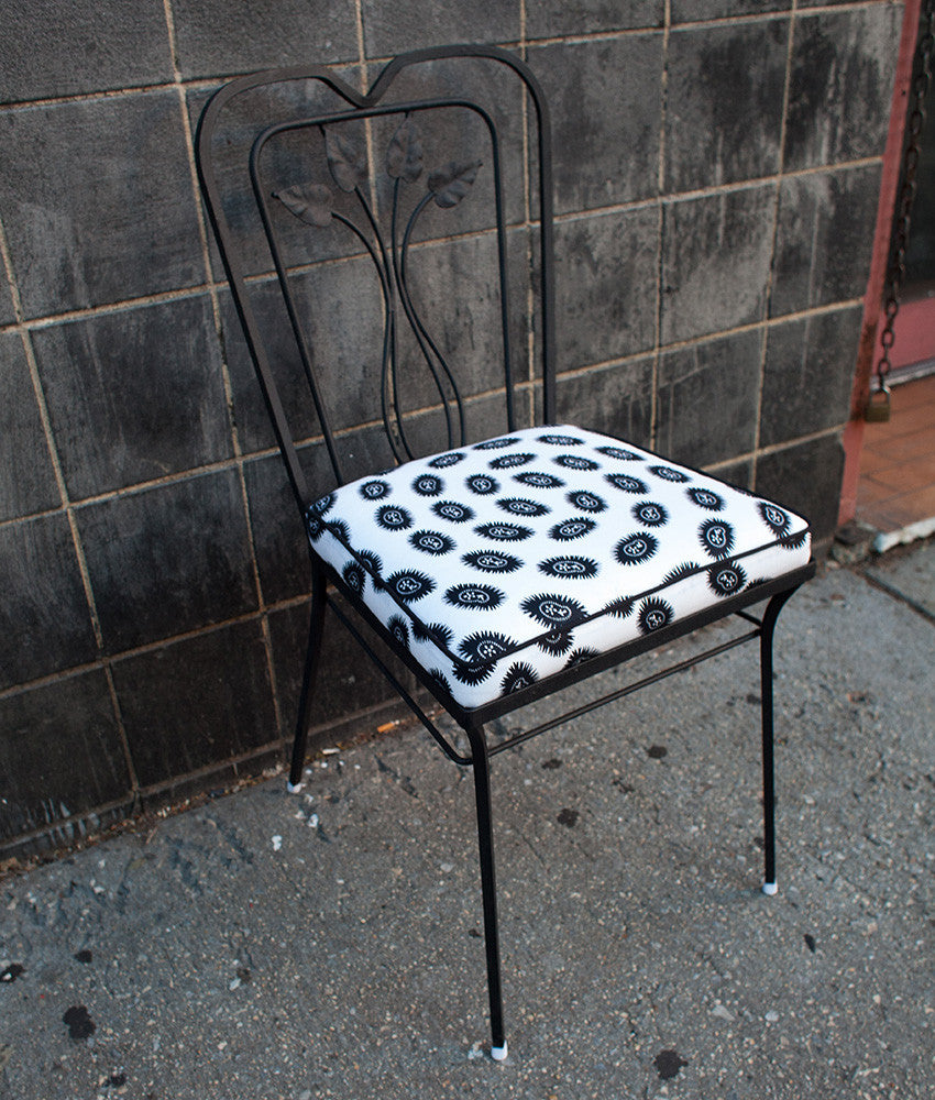 Set of 4 Wrought Iron Cafe Chairs