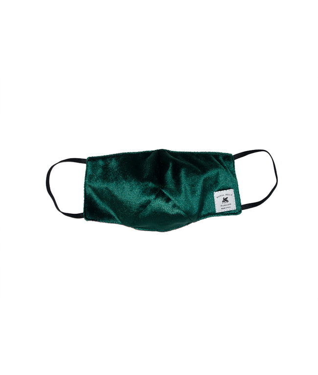 Adult Mask in Emerald Green Velvet