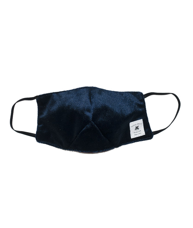 Adult Mask in Royal Navy Blue Velvet