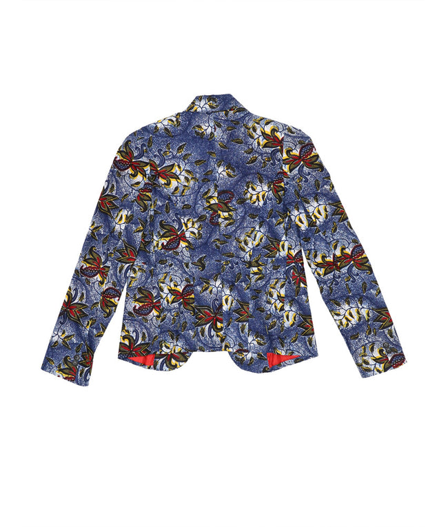 Blaze in Blue Paisley Flowers