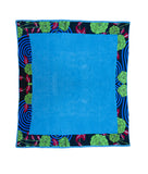 XL Towel in Coastal Blue & Black Flora