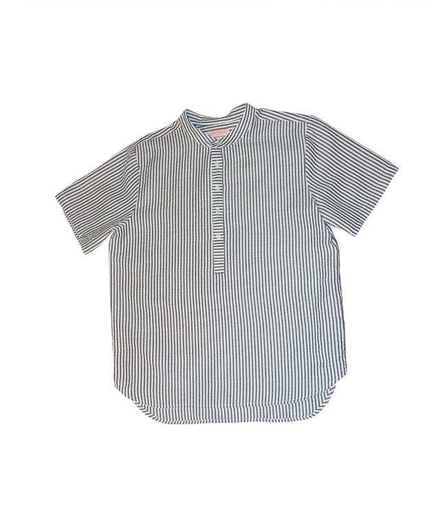 Habibi Pop Over Shirt in Gray Seersucker