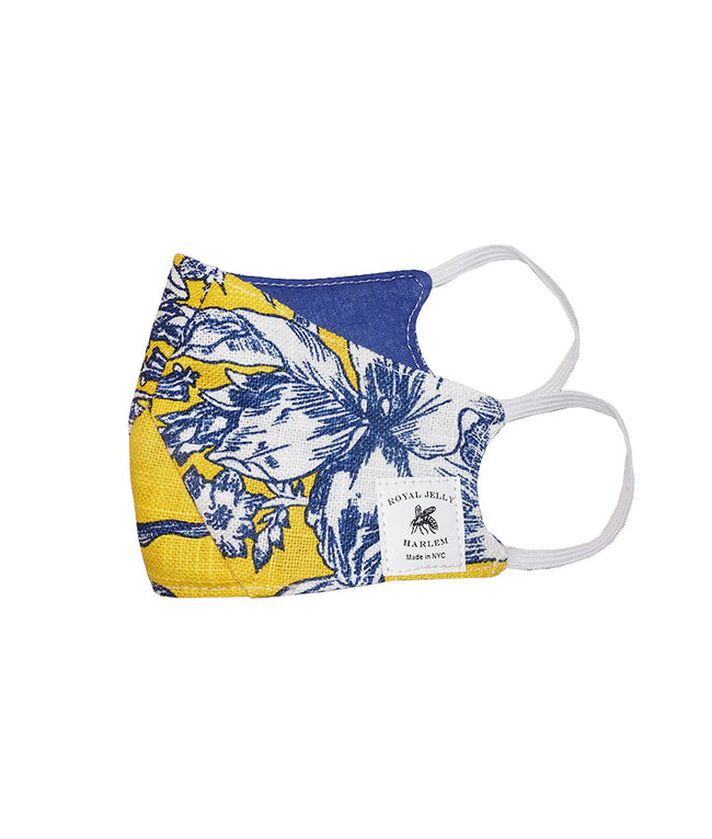 Kids Mask in Yellow Toile