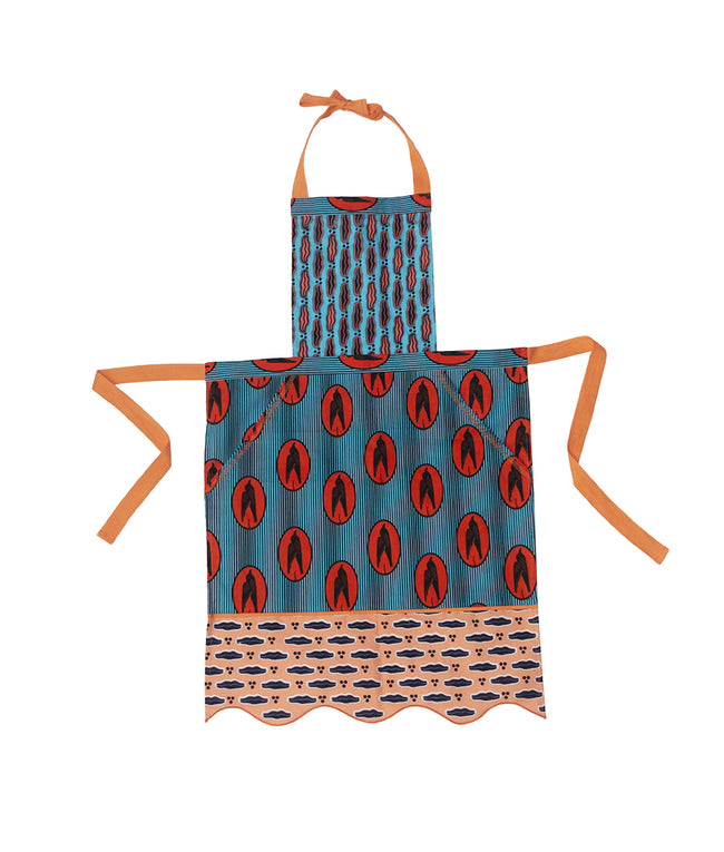 Pom Pom Apron in Kiss & Fly