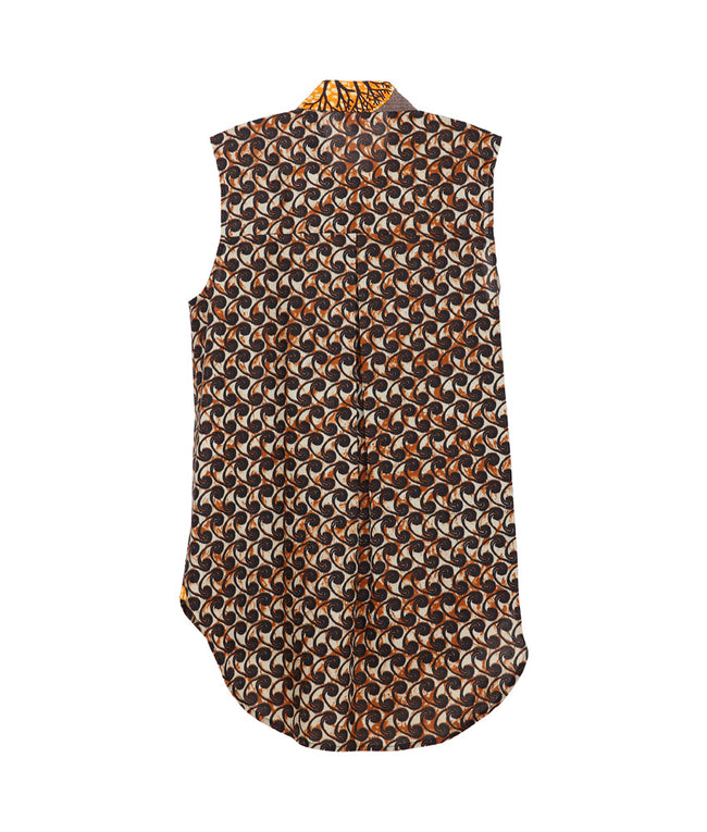 Ume Tunic in Brown Swirls