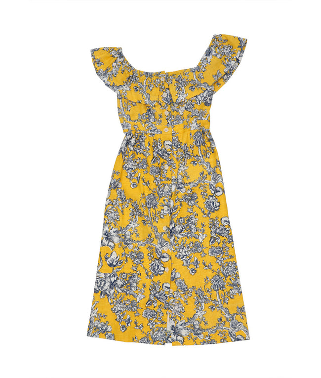 Annabelle in Yellow and Blue Toile Linen