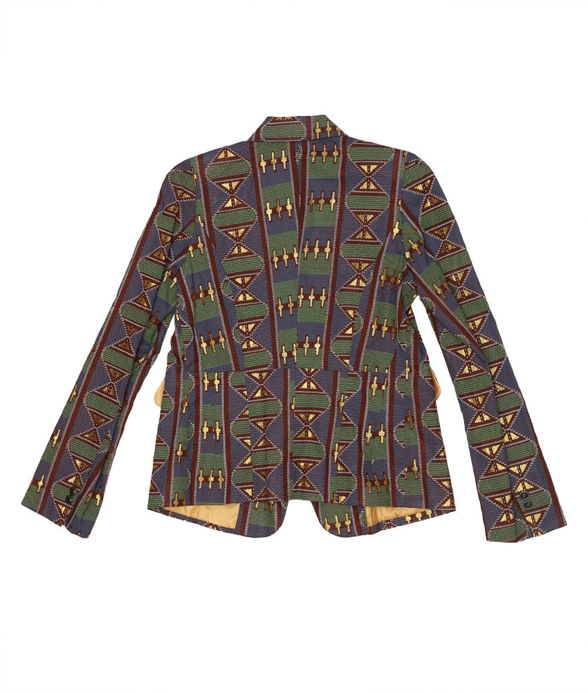 Blaze in Teal/Gold Kente