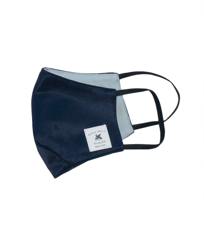 Adult Silk Mask in Navy Silk