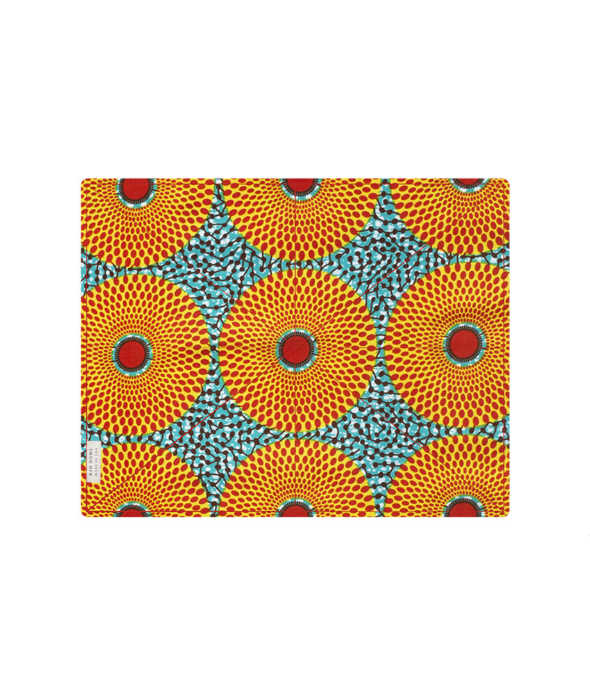Placemat in Teal & Orange Asterix