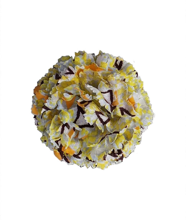 Lapel Flower in Yellow Confetti