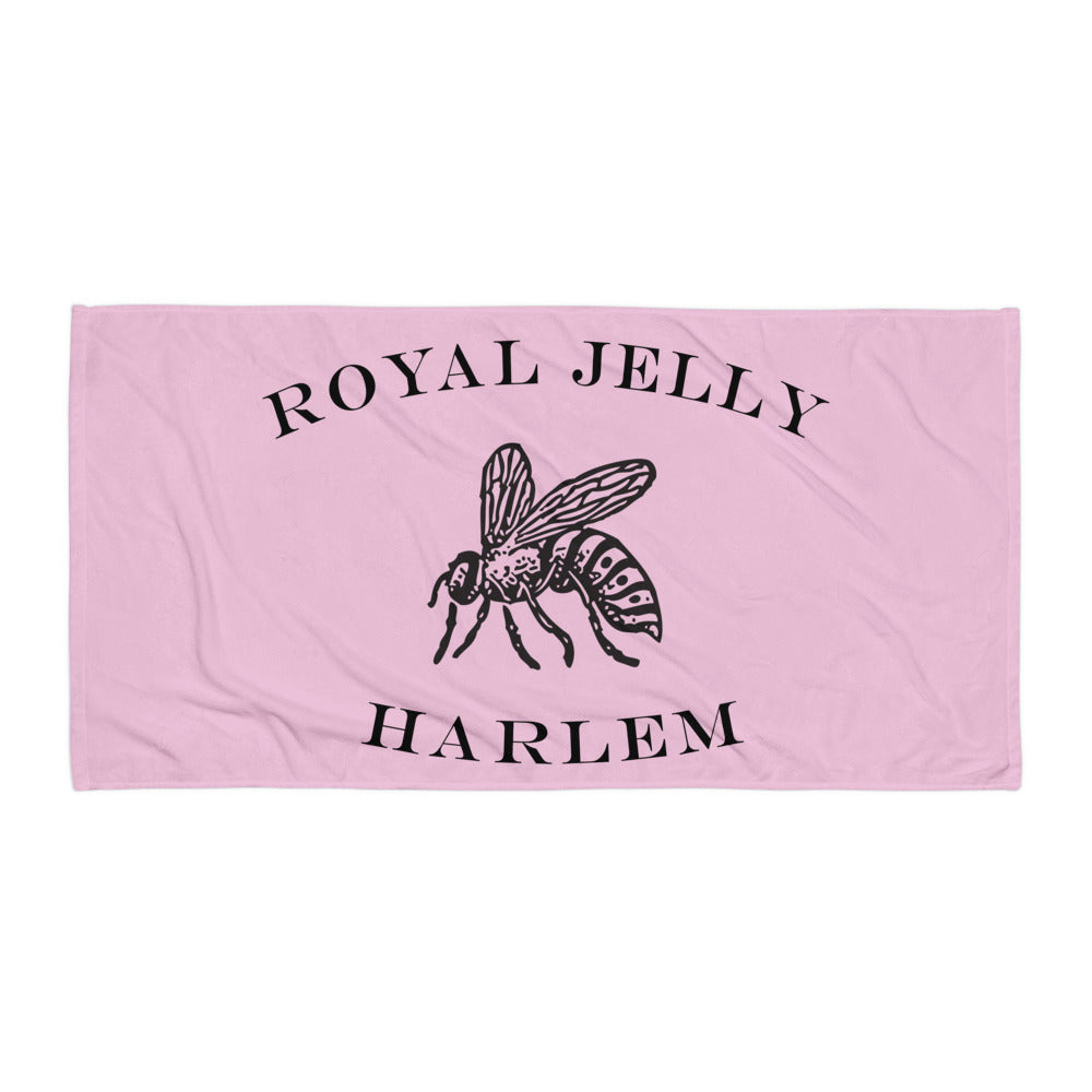 RJH Logo Towel in Raspberry