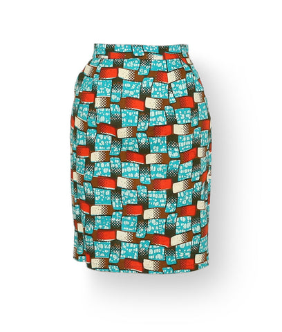 Pencil Skirt in Tic Tac Toe
