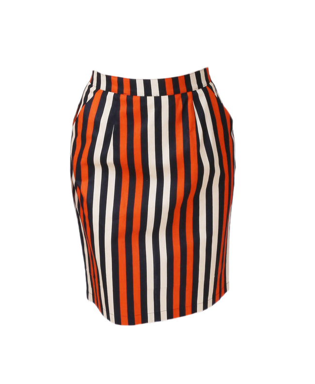 Pencil Skirt in Vogue Stripes