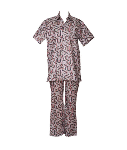 Cabana PJ Set Art Deco Grey