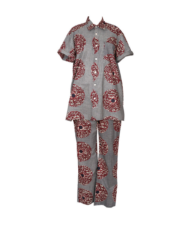 Cabana PJ Set in Medallions Blue