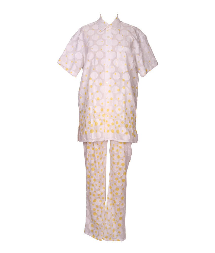 Cabana PJ Pants in Yellow Polka Dots