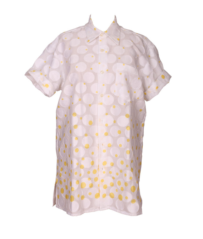 Cabana PJ Top in Yellow Polka Dots
