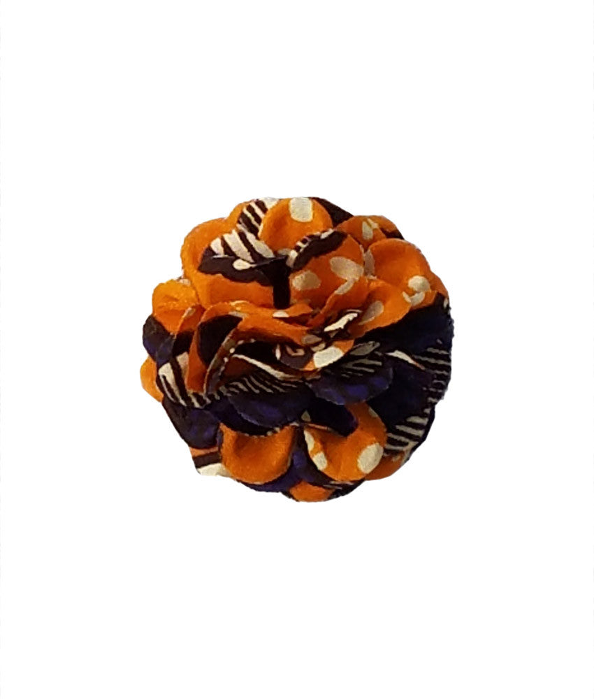 Small Lapel Flower in Orange Crush