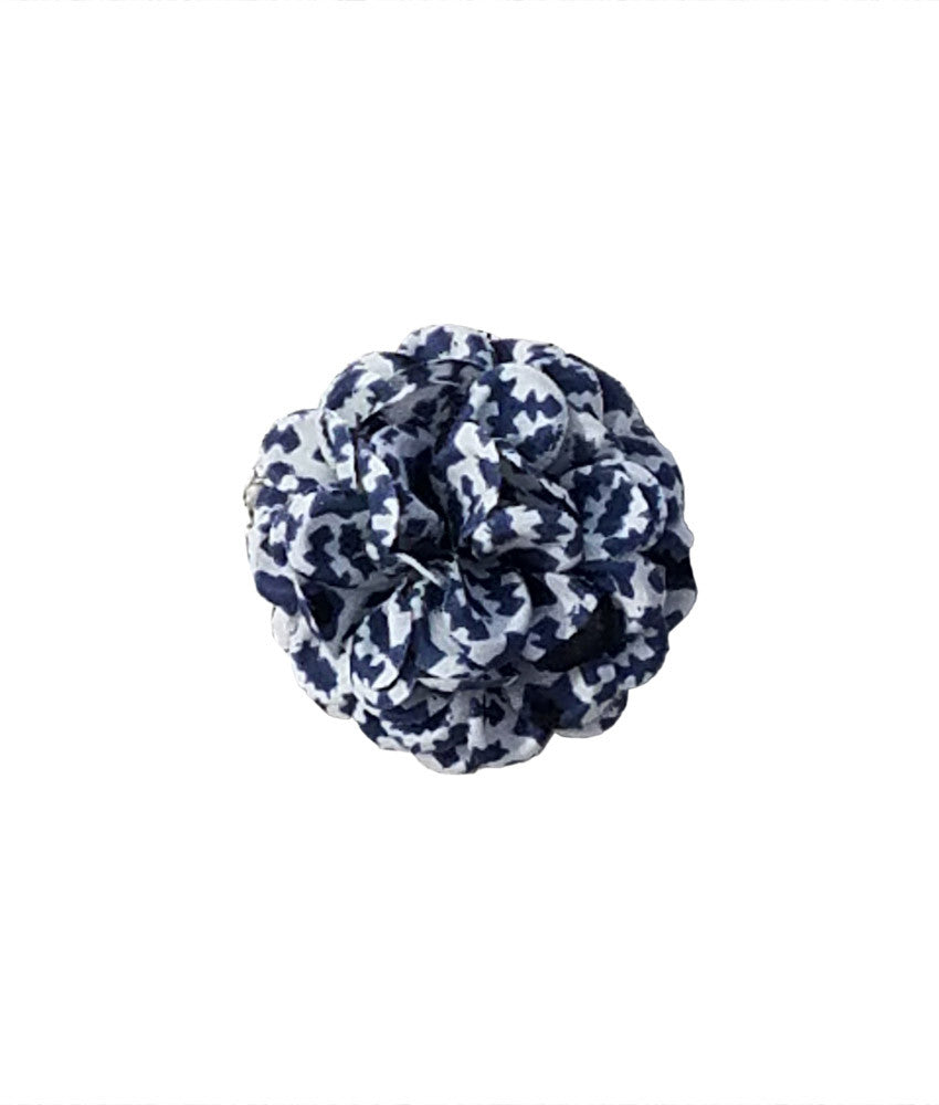 Small Lapel Flower in Blue Stars