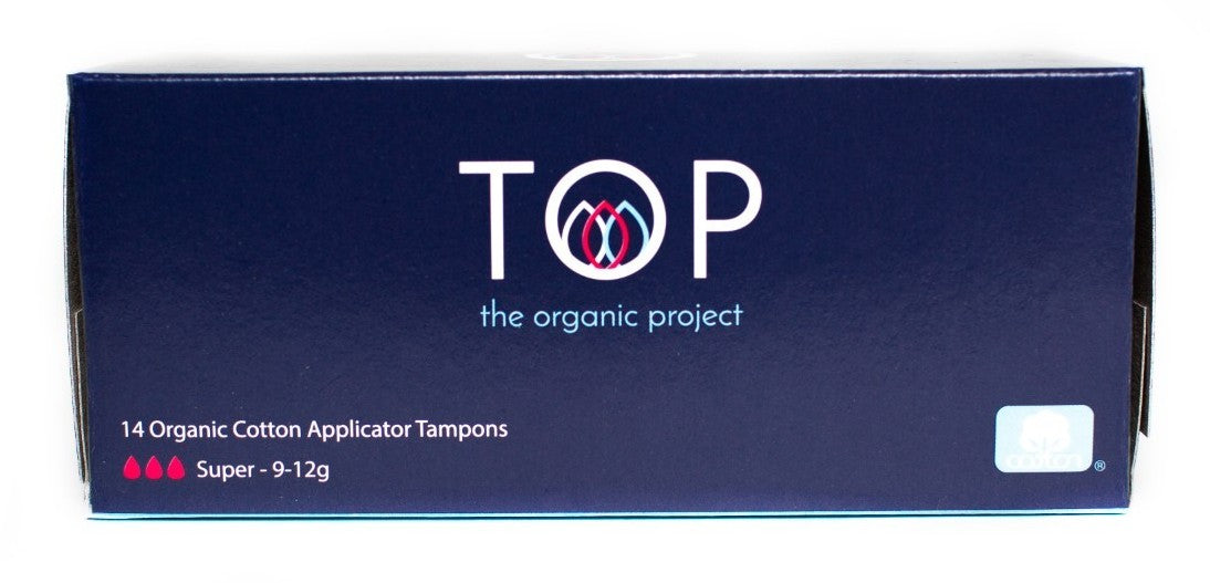 TOP Organic Cotton Tampons with Cardboard Applicator