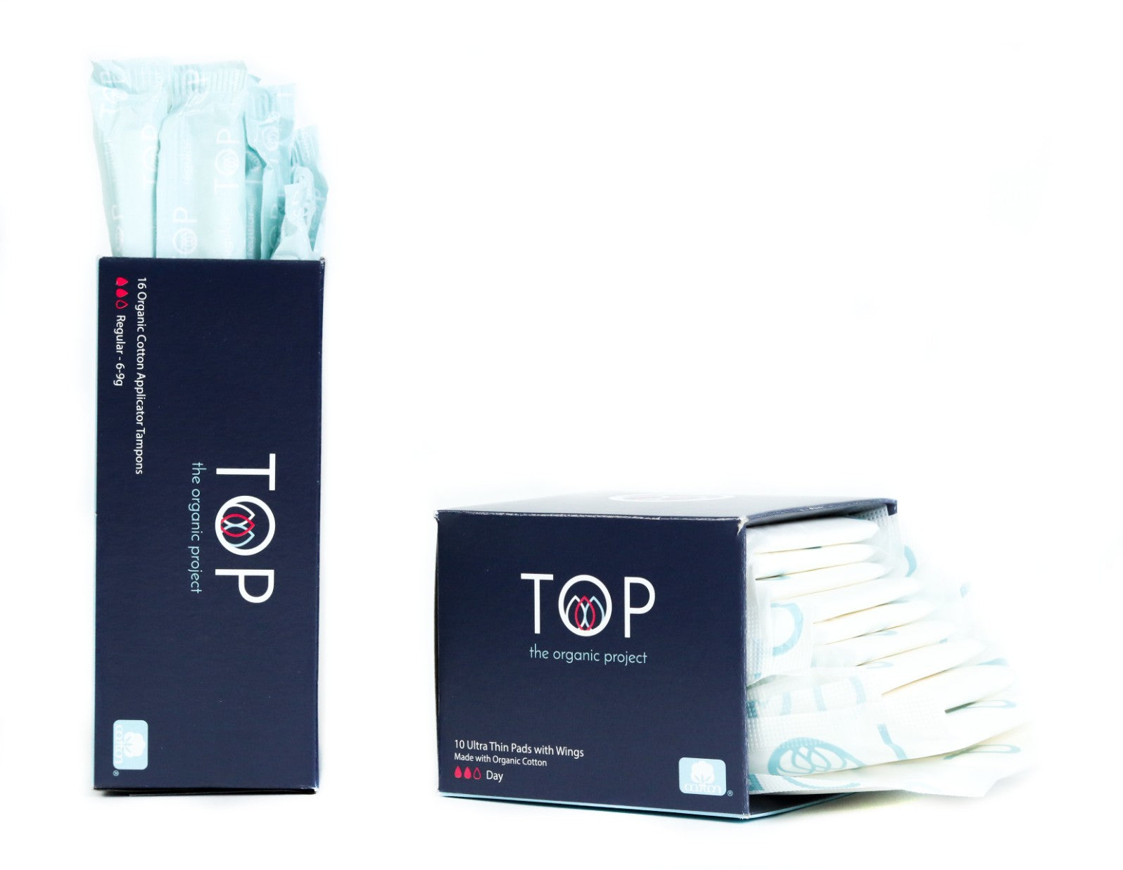 Regular Organic Cotton Tampons & Day Organic Cotton Ultra Thin Pads Pack