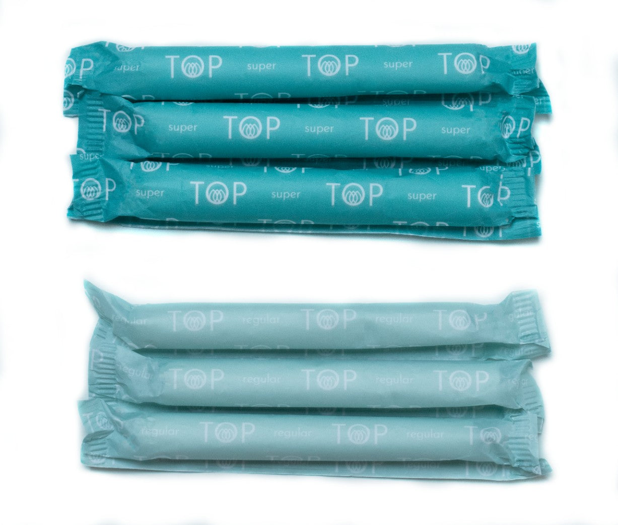 TOP Organic Cotton Regular & Super Tampons with Cardboard Applicator Variety Pack