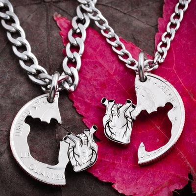 Anatomical Heart Couples Necklaces