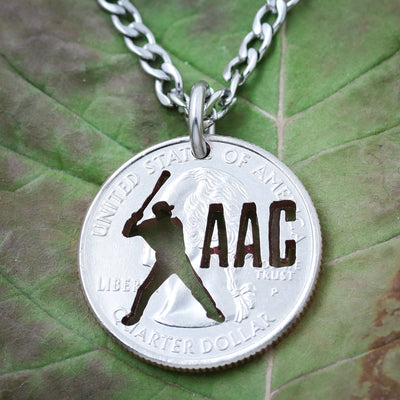 Personalized Baseball or Softball Batter Necklace