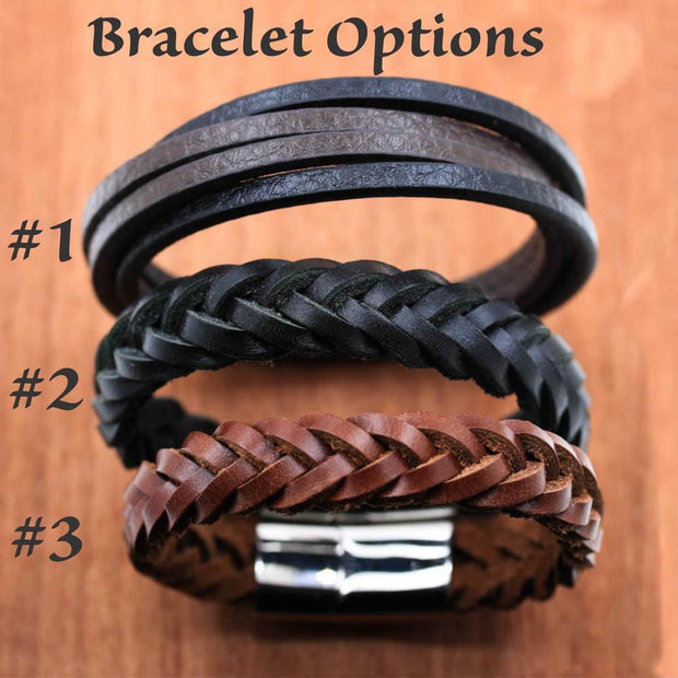 Buck and Doe Couples Leather Bracelets