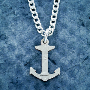 Anchor Necklace and Leather Bracelet, Couples and Best Friends