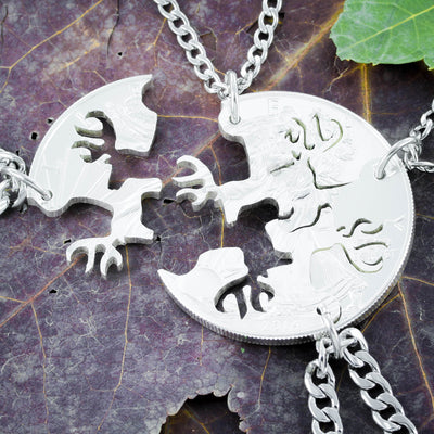 4 Best Friends Hunters Necklaces, Buck deer jewelry