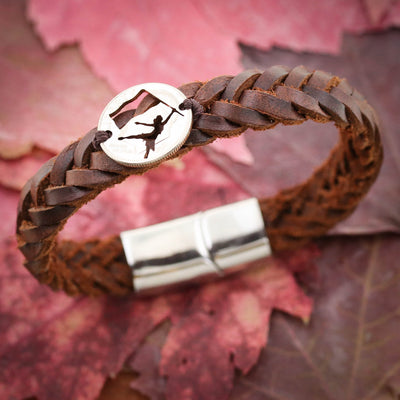 Color Guard Leather Bracelet, Sports Gifts For Her