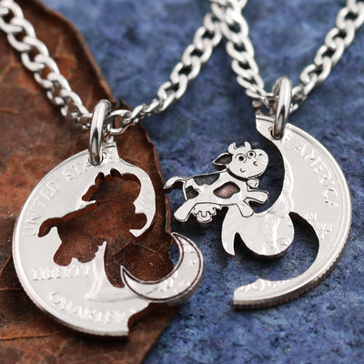 Cow Jumped over the Moon Necklaces for 2