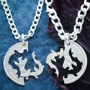 Best friend necklaces, Hammerhead Sharks