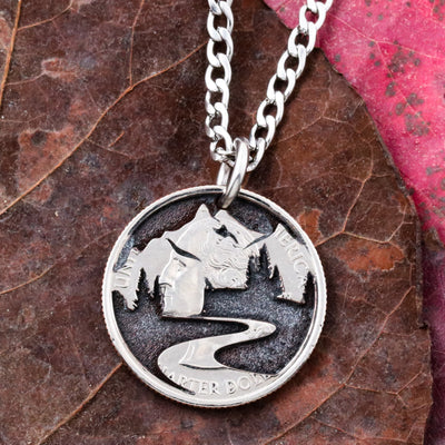 Mountain View Necklace, Hiking Nature Jewelry