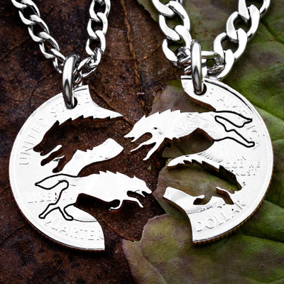 Wolf Necklace, Wolves Running