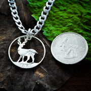 Buck Necklace, Deer Hunting Gift