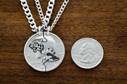 Tiger and Panda Necklaces for 2, Best Friends or Couples Gifts