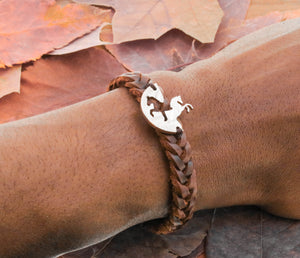 Best Friend Horse Leather Bracelets