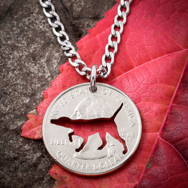 English Pointer Necklace, dog jewelry, hand cut coin
