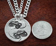 4x4 Best Friend Truck Necklaces, Mud Bogging, Mudding by Namecoins