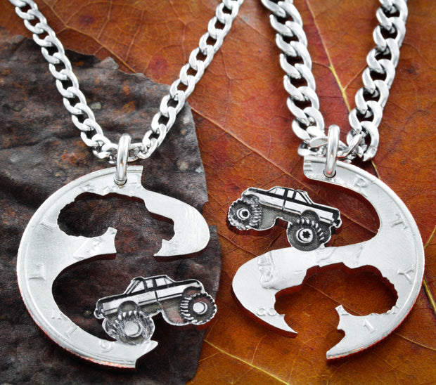 4x4 Best Friend Truck Necklaces, Mud Bogging, Mudding