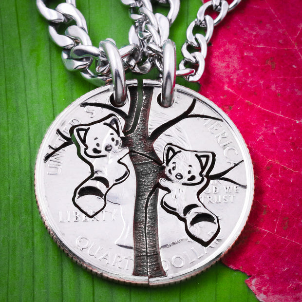 Red Panda Relationship Necklaces