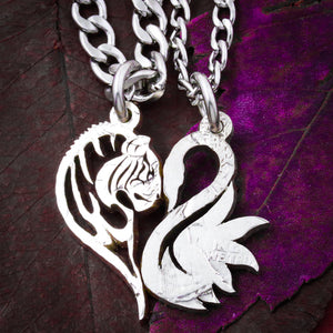 Tiger and Swan Couples Necklaces