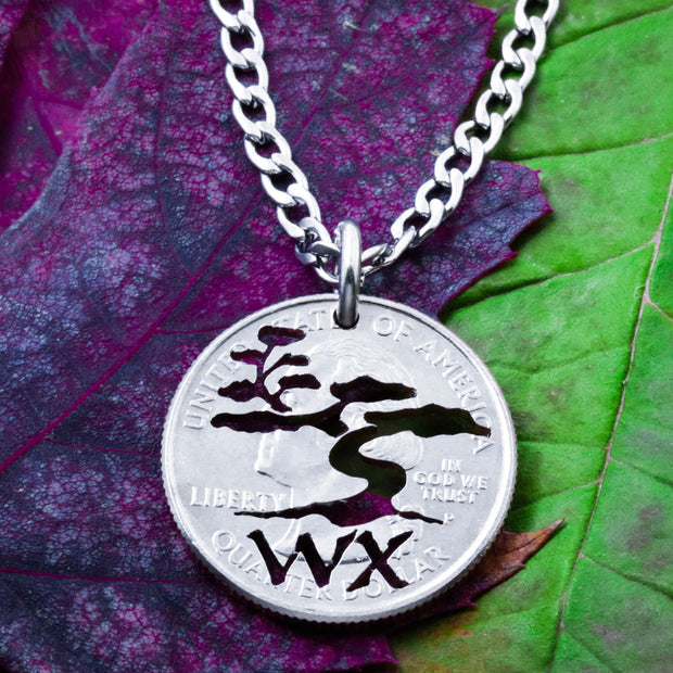 African Tree Necklace, With Custom Initials