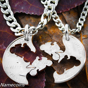 Biker Jewelry, Matching Motorcycle Coin Necklace Set