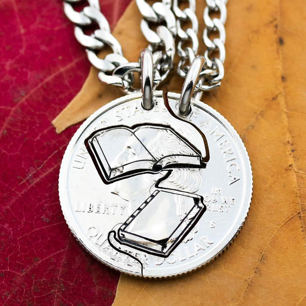 Book Lovers Best Friends Necklaces, Love Reading